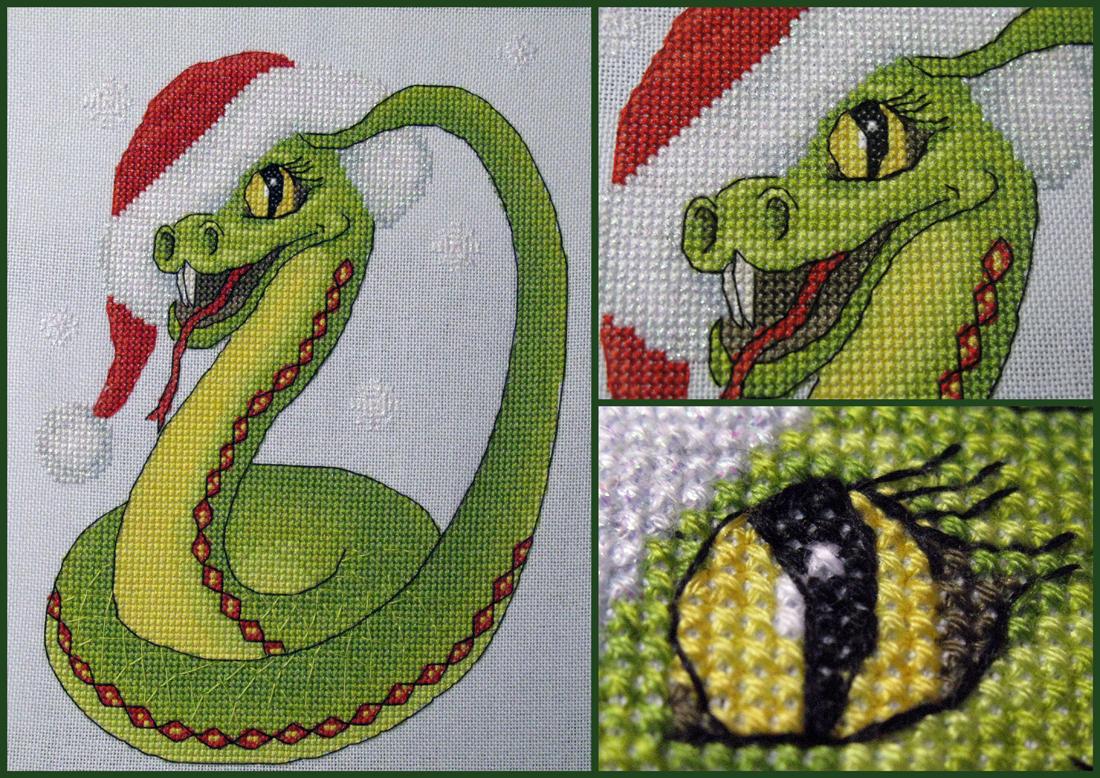 Змей горыныч схема вышивки 3