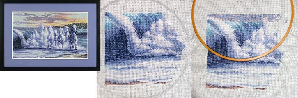 Вышивки дименшенс волна