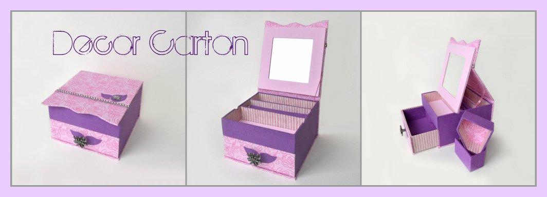 Сделать коробку из картона для украшений своими руками