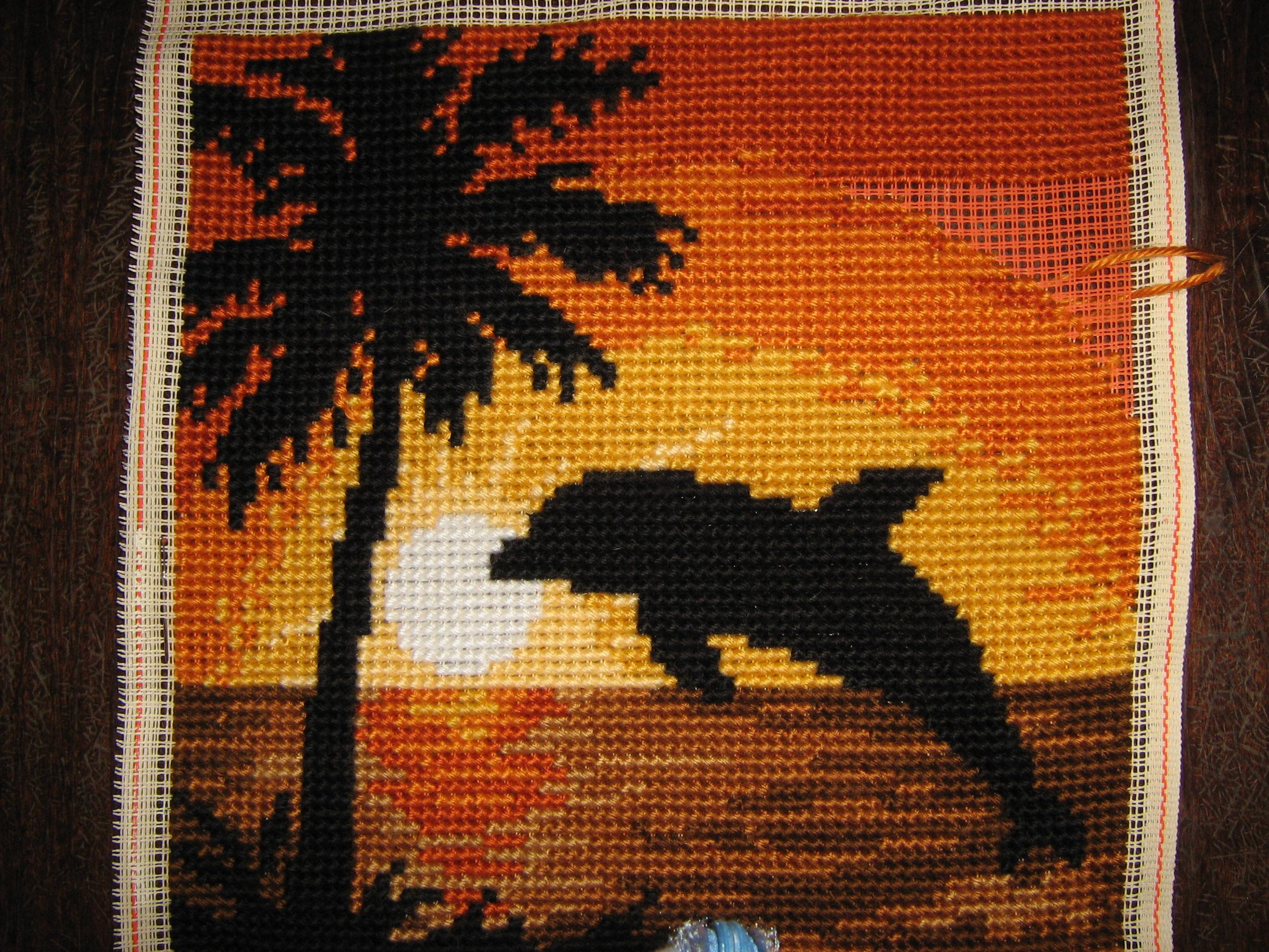 Схемы для вышивки крестом закат солнца
