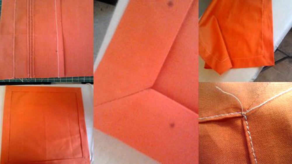 Как сшить салфетки на стол своими
