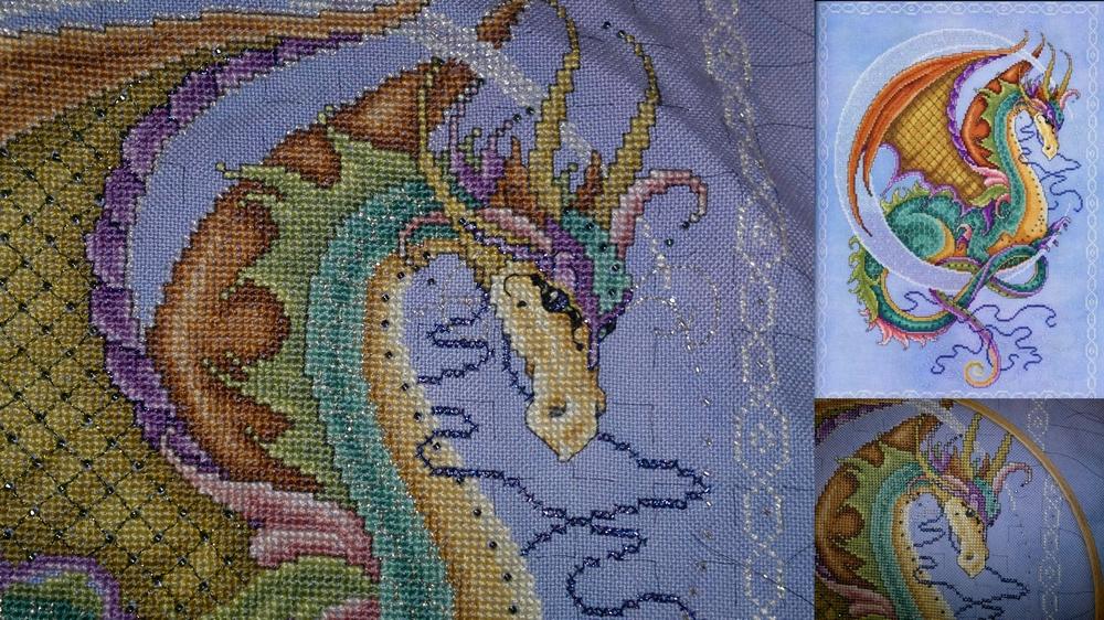 Схемы вышивки драконов от джоан эллиот