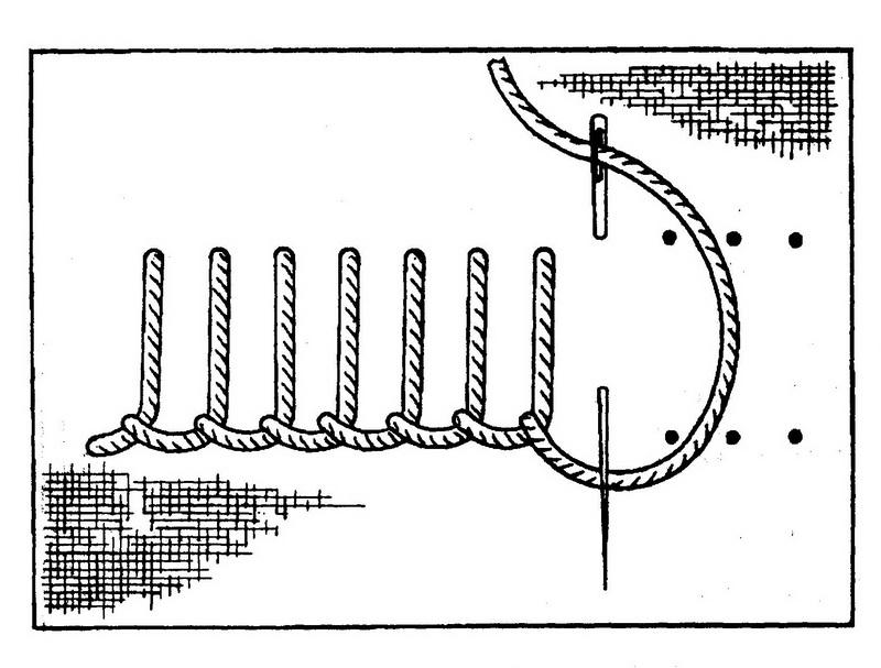 На нашей схеме петельный шов