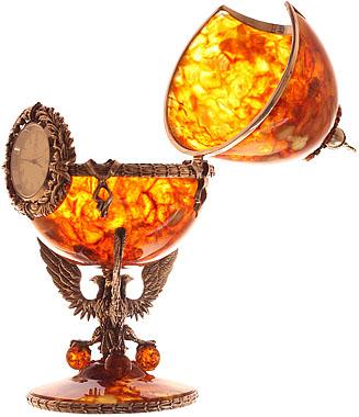 часы из янтаря