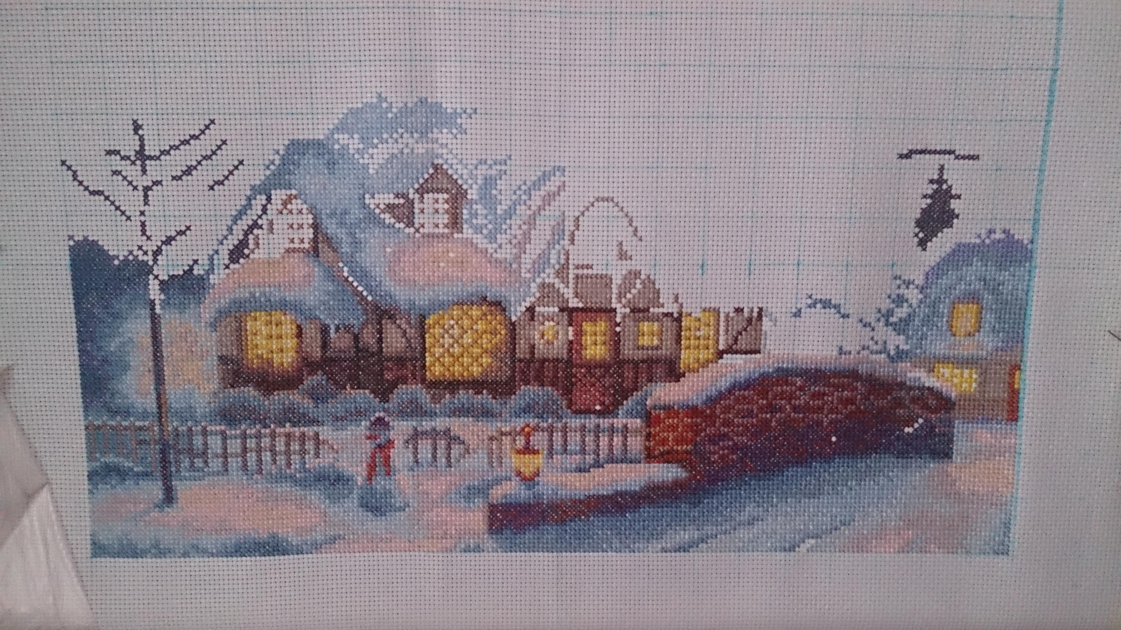 Набор для вышивания крестом Panna ВС-0485 Домик-Зима